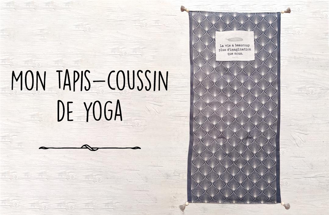 Mon tapis-coussin de yoga