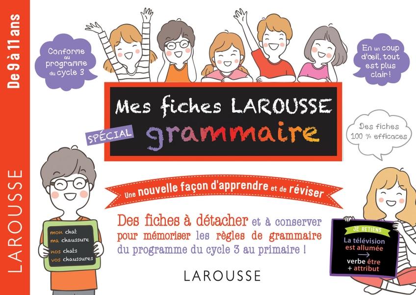 Mes fiches Larousse spécial grammaire - De 7 à 11 ans