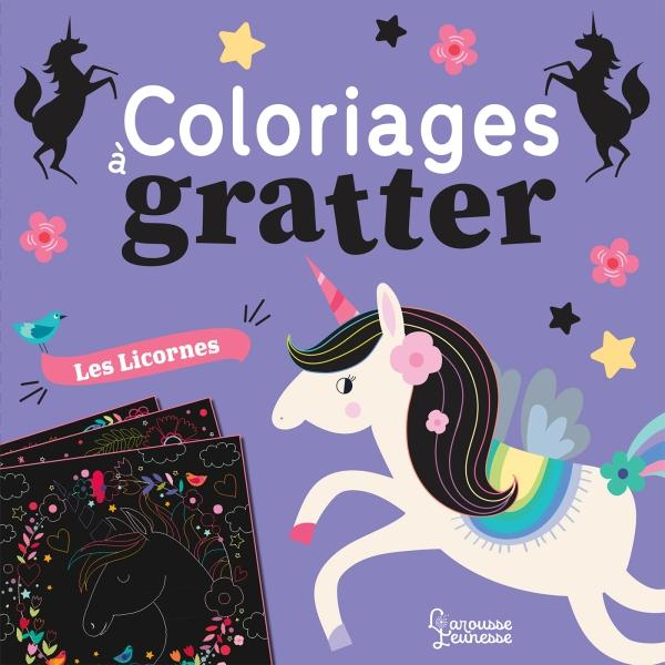 Coloriages à gratter licornes