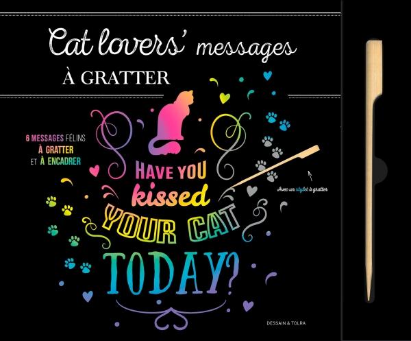 Cat lovers' Messages à gratter
