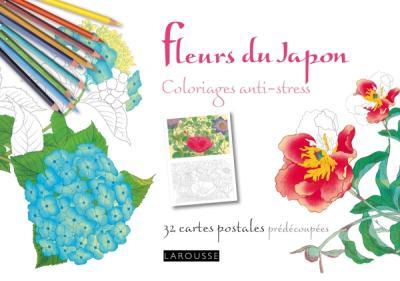 Fleurs du Japon coloriages anti-stress 32 cartes postales