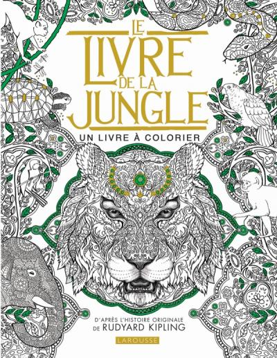 Coloriage Famille Delajungle.Le Livre De La Jungle Un Livre A Colorier Editions Larousse