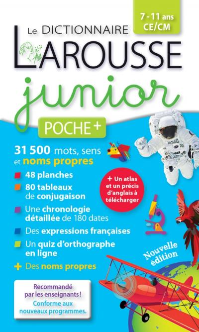 Larousse dictionnaire Junior poche plus