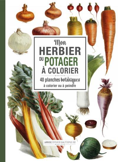 Mon herbier du potager à colorier