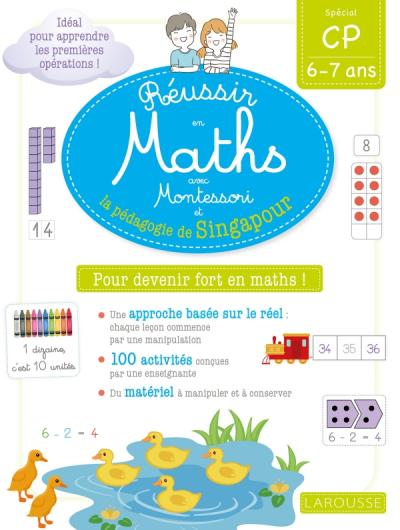 Réussir en maths avec Montessori et la pédagogie de Singapour CP