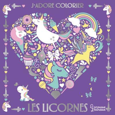 J'adore colorier les licornes