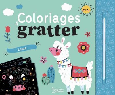 Coloriages à gratter : les lamas
