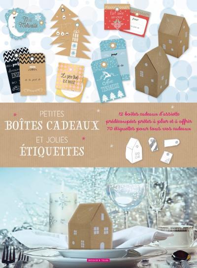 Petites boîtes cadeaux et jolies étiquettes