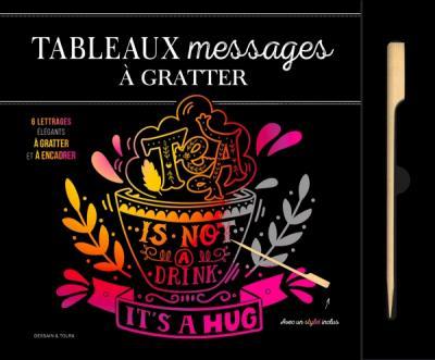 Tableaux  Messages et citation à gratter