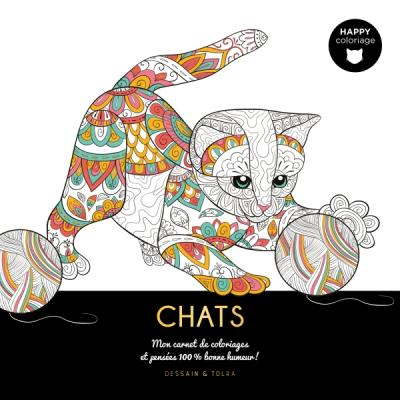 Chats - Happy coloriage