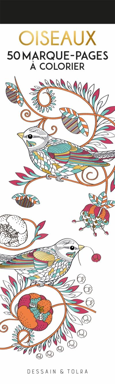 Marque-pages à colorier - Oiseaux