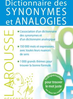 Dictionnaire des synonymes et analogies