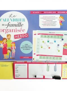 Le calendrier de la famille organisée hebdo 2020