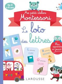 Mes petits ateliers MONTESSORI - Le loto des lettres et des sons