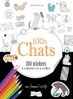 200 stickers à colorier 100 % chats