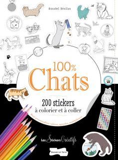 200 stickers à colorier 100 % chats