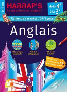 Harrap's cahier de vacances Anglais 4ème