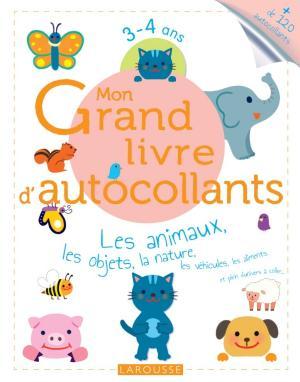 Mon Grand livre d'autocollants - Les animaux, les objets, la nature...