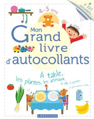Mon grand livre d'autocollants - À table, les plantes, les animaux...