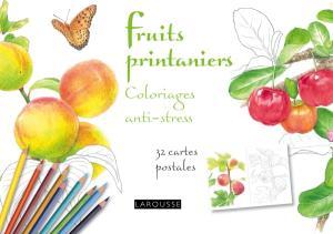 Fruits printaniers coloriages anti-stress 32 cartes postales