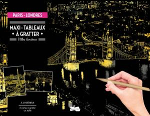 Maxi-tableaux à gratter Paris-Londres