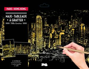 Maxi-tableaux à gratter Paris-Hong Kong