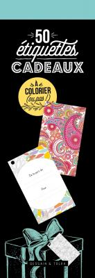 """50 étiquettes cadeaux """"spécial coloriages"""""""