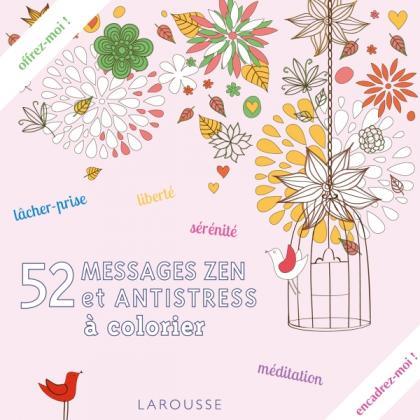 52 messages zen et antistress à colorier