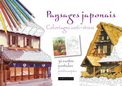 Paysages Japonais coloriages anti-stress 32 cartes postales