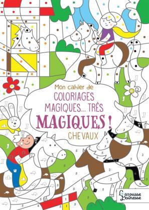 Mon cahier de coloriages magiques... très magiques ! CHEVAUX