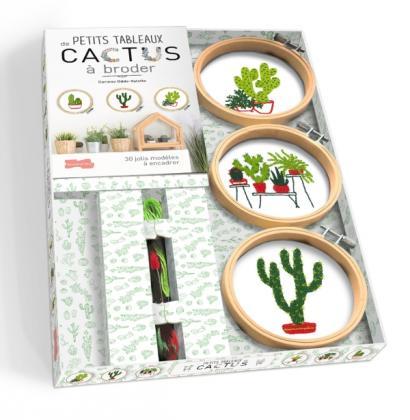 Petits tableaux de cactus à broder