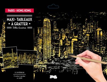 Maxi-tableaux à gratter Paris-Hong Kong