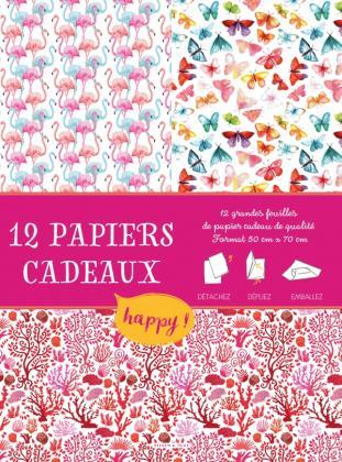 Papiers cadeaux créatifs Happy