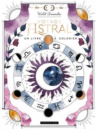 Voyage astral, un livre à colorier