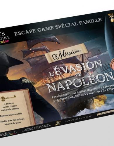 Escape game famille - SECRETS d'HISTOIRE JUNIOR - évasion de Napoléon