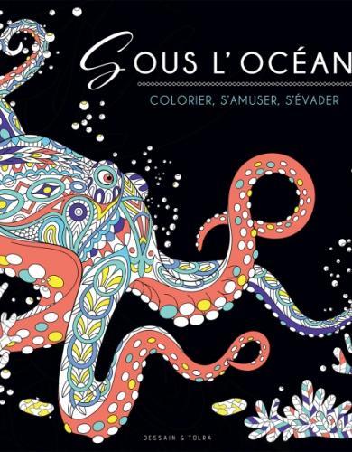Black Coloriage - Sous l'océan